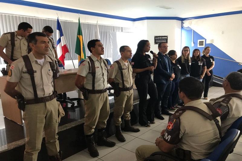 Policiais lotados na 34ª CIPM de Brumado participam de palestras