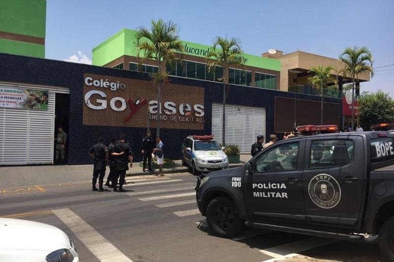 Goiânia: Filho de PM que sofria `Bullying´ atira em colegas dentro de escola e deixa dois mortos e feridos