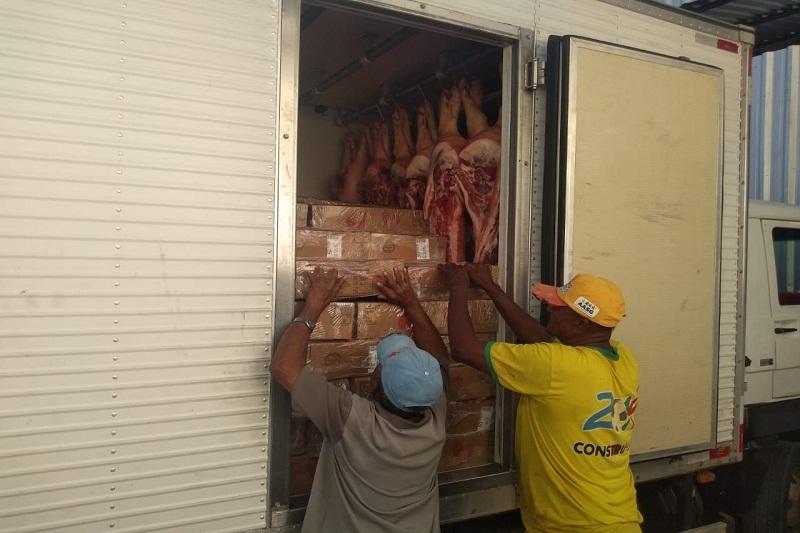 Brumado: Caminhão com 3 toneladas de carne sem nota fiscal é apreendido pela PRE