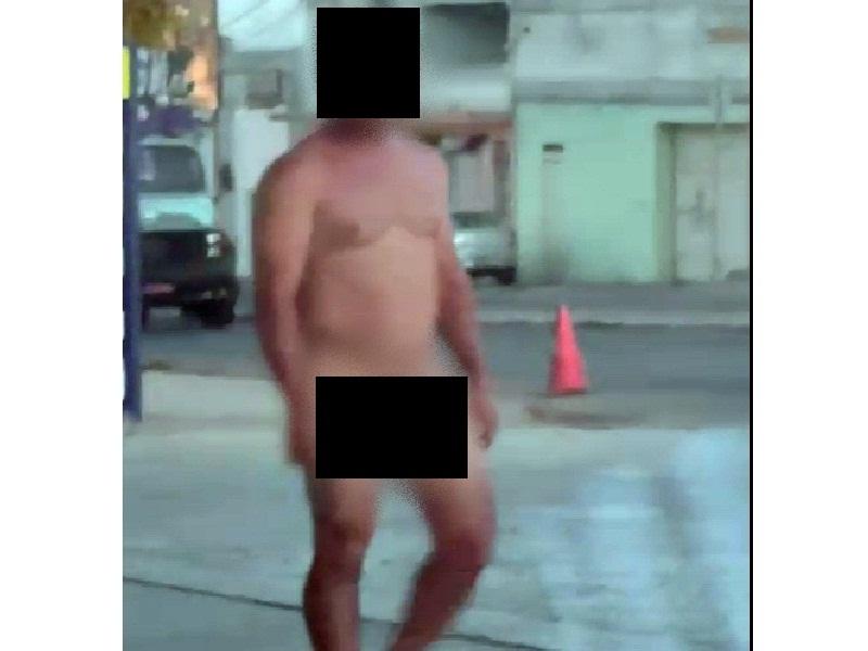 Brumado: Homem pelado é visto andando tranquilamente na Avenida Lindolfo Azevedo Brito