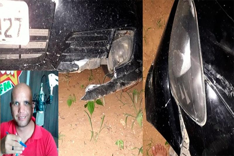 Repórter guanambiense sai ileso, após capotar carro na BR-030, entre Carinhanha e Feira da Mata