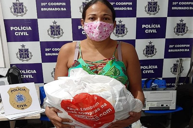 Brumado: Polícia Civil realiza ação solidária para entregar cestas de alimentos a famílias carentes