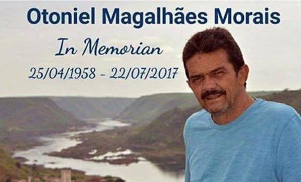 Luto em Conquista: Morre o professor da UESB, Otoniel Magalhães Morais, vítima de câncer