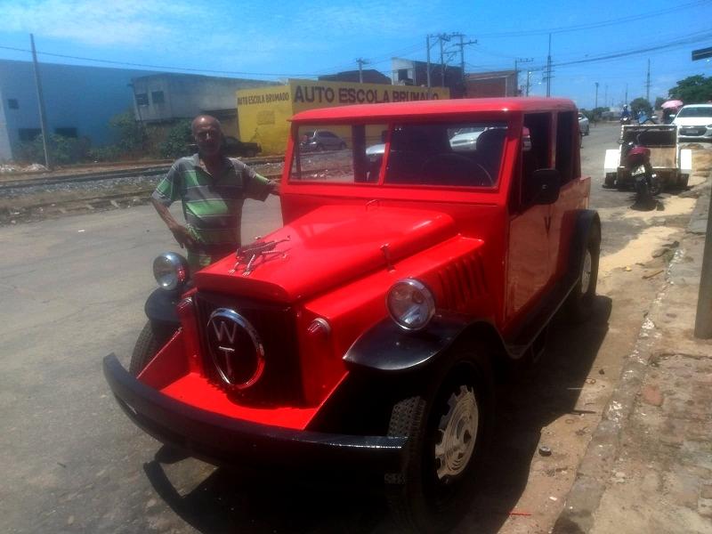 Brumado/BA: Um ano depois, 'funileiro' termina veículo inspirado no modelo WT
