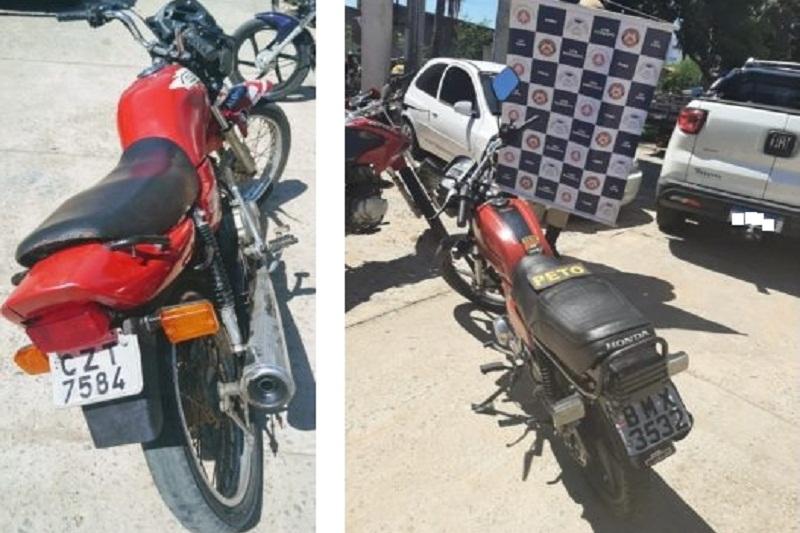 Brumado: Polícia Militar apreende motocicletas com placas falsa e chassi suprimido