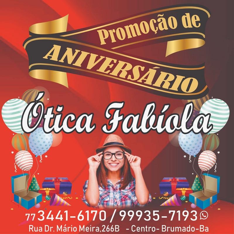 5b7ac6ad2 Brumado: Aniversário da Ótica Fabíola, compre e ganhe prêmios - 97 News