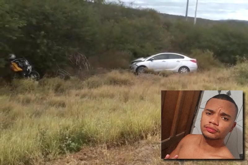 Jovem de 20 anos morre após acidente entre motocicleta e carro na BA-262, trecho entre Brumado e Aracatu