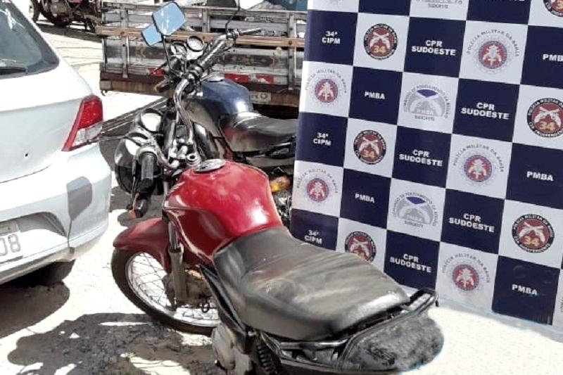 Brumado: Polícia Militar recupera moto roubada na zona rural do município